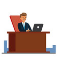 consultant working at office cartoon flat vector image