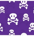 Crossbones pattern purple vector image