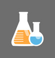 flask and test tube icon medical glassware concept vector image