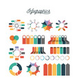 infographics and statistics colorful set icons vector image