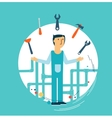 Plumber at work vector image