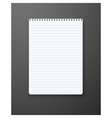 Realistic Notepad Office Equipment vector image