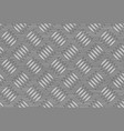 Seamless steel diamond plate vector image