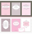Templates set Brochures cards banners vector image