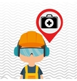 worker protection power plant vector image