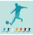 Flat design soccer player vector image