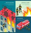 fire department design concept set vector image