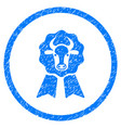cow award seal rounded grainy icon vector image