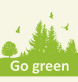 green background with firs vector image