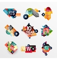 Set of labels stickers banners badges and vector image