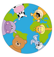 animals world vector image