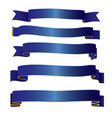 blue ribbons collection vector image