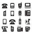 Communication call phone vintage retro telephone vector image