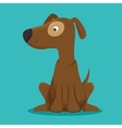 dog puppy icon graphic blue background vector image