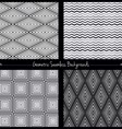 Geometric seamless background set vector image