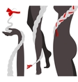 Hair Braids and Woman Body Silhouette vector image