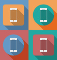 Icon of Smartphone mobile phone vector image