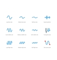 Music waves color icons on white background vector image
