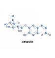 Aesculin is a coumarin glucoside vector image