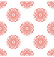 seamless pattern with red mandala floral geometric vector image