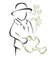 Garden caring vector image vector image