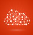 Cloud computing - internet communication network vector image vector image