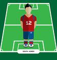 Computer game South Korea Soccer club player vector image