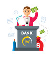 bank finance agent flat style colorful vector image