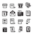bill money income icons set vector image