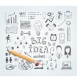 Business idea doodles vector image