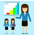 Cheerful businesswoman on presentation vector image