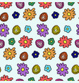 colorful spring flower pattern vector image