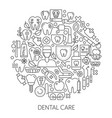 dental care web design concept line icons for vector image