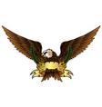 Fury spread winged eagle vector image