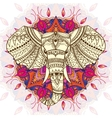 Greeting Beautiful card with Ethnic patterned head vector image