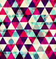 grunge red triangle seamless pattern vector image