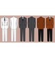 Mans suits for business isolated for design vector image
