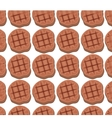 Meat grill invitation pattern background vector image