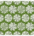 Seamless christmas pattern Origami paper cut out vector image