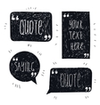 set of hand drawn quote bubbles space vector image