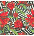 Tropical Seamless vintage floral pattern vector image