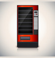 Vending Machine with shelves red coloor vector image