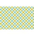 Green blue check diagonal fabric texture vector image