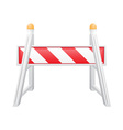 road barrier 04 vector image vector image
