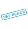 1st Place Rubber Stamp vector image