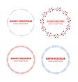 Decorative winter circle wreath collection vector image