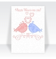 Happy Valentine Day card template or Valentines vector image