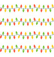 christmas lights festive decorations vector image