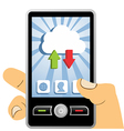 Cloud computing mobile device vector image