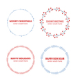 Decorative winter circle wreath collection vector image
